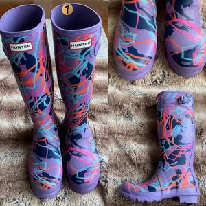 Hunter Original Tall Mary Poppins Rain Boots